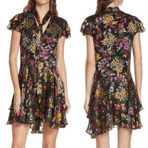 Alice + Olivia Moore Floral Tiered Mini Dress